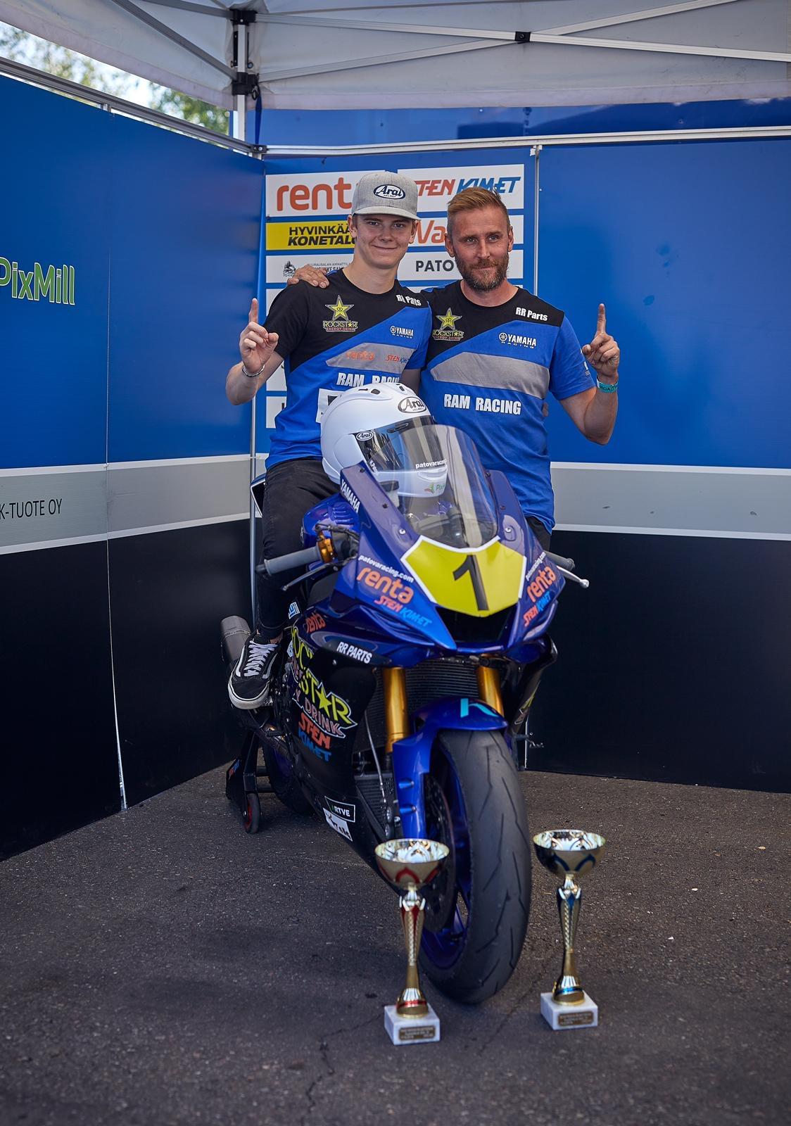 Kauden 2019 suomenmestari Kimi Patova jatkaa RAM Racing Yamahan väreissä kohti Espanjan ratoja